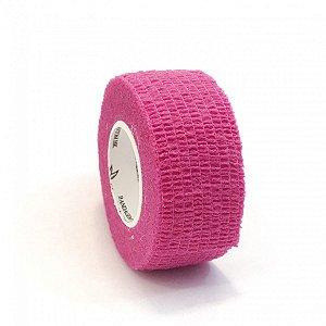 Fita Elástica Bandagem Rosa 2,5cm