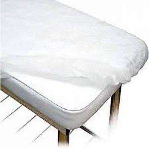 Lençol Descartável ProtDesc c/ elástico Branco 10un