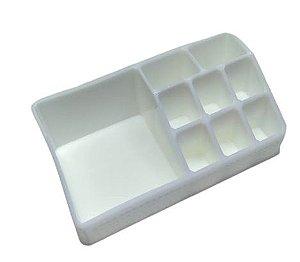 Organizador de Cosméticos Plástico Branco 17x9x6,5cm