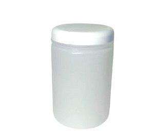 Pote Plástico redondo alto tampa branca 1K