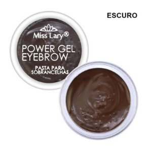 Pasta para Sobrancelhas Power Gel Eyebrow Escura - Miss Lary