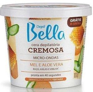 Cera Depilatória Micro-ondas Cremosa  Depil Bella Mel E Aloe Vera 100g