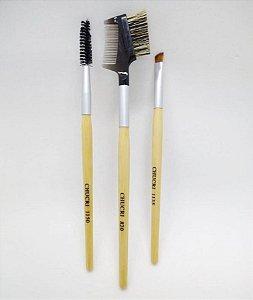 Kit 3 Pinceis Chucri Para Design de Sobrancelhas - Atacado