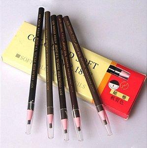 Lápis Dermatográfico Cosmetic Art Black e Brown (marrom) - Atacado