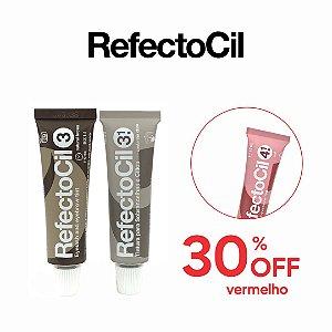 Refectocil n.3.1 Castanho Claro + n.3 Castanho Natural + 30% OFF Refectocil n.4.1. Vermelho