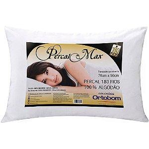 Travesseiro Max 180 Fios Percal 50x70cm Ortobom