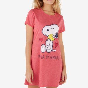 Camisola Manga Curta You Are My Favorite Snoopy Vermelho
