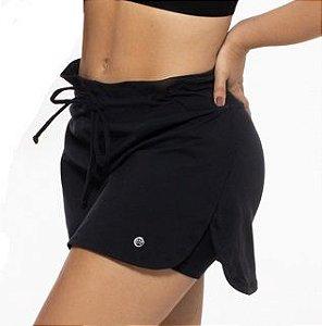 Saia Fitness  Feminino ROMA Shorts Interno Preto