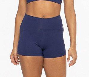 Shorts Fitness Curto Feminino Emana ROMA Cintura Arco Azul Escuro
