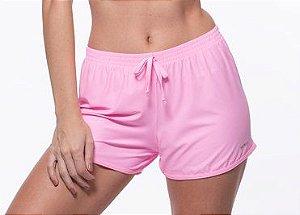 Shorts Fitness Curto Feminino ROMA Dry Fit Rosa Claro