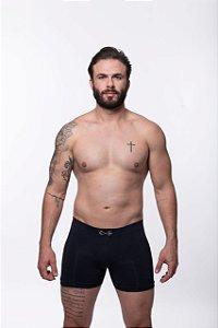 Cueca Boxer Sem Costura ROMA Setas Preto