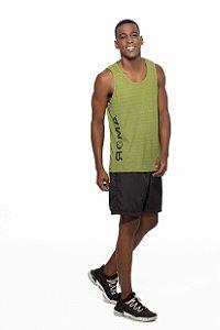 Regata Fitness Cavada Masculino ROMA Logo Verde Médio