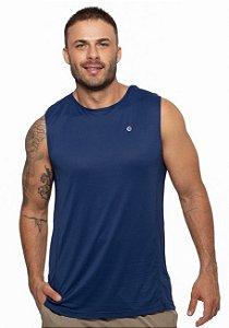 Regata Fitness Machão Masculino ROMA Básica Azul Escuro