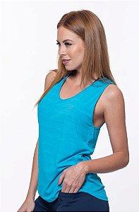 Regata Fitness Nadador Feminino ROMA Básica Azul Claro