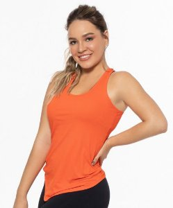 Regata Fitness Nadador Feminino ROMA Lisa Laranja Médio