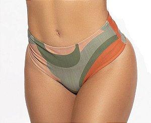 Tanga Moda Praia Hot Pants Feminino ROMA  Estampado Verde Médio