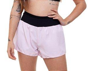 Shorts Fitness Curto Feminino ROMA opaco Rosa Claro