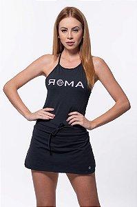 Body Fitness  Feminino ROMA Alça Cruzada Preto