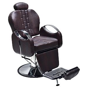 Cadeira De Barbeiro Reclinável -Marrom |  Tissot Retrô  Terra Santa