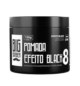 Pomada Modeladora Preta Black Big Barber 120g Level 8 Pigmentada Profissional