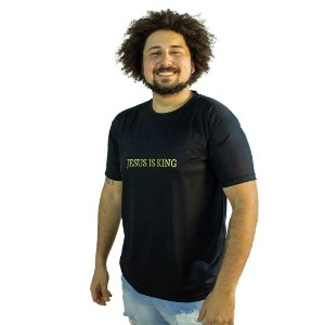 Camiseta Jesus Is King Preta