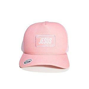 Boné Jesus Rosa Logo Rosa