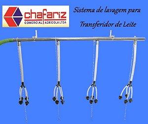 Sistema lavagem para Transferidor de Leite