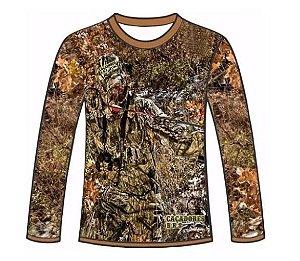 Camiseta Camuflada Manga Longa Caçadores Brs - 04