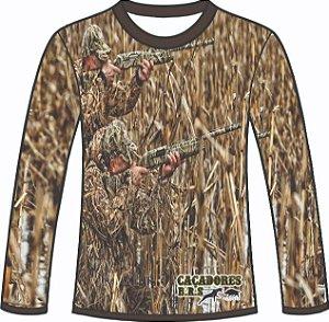 Camiseta Camuflada Manga Longa Caçadores Brs - 07