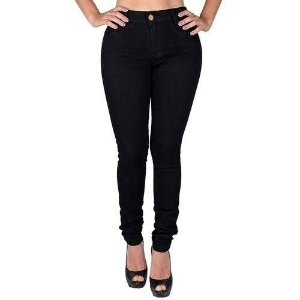 Calça jeans feminina preta