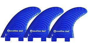 Quilhas Soul Fins SM2 - Padrão FCS Tamanho Grande Azul