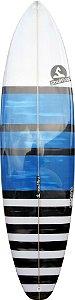 "Prancha Soul Fins Evolution Squash 6'6"" Branca/Azul"