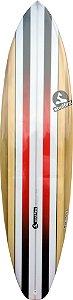 """Prancha Soul Fins Evolution Squash 6'8"""" Madeira/Vermelha"""