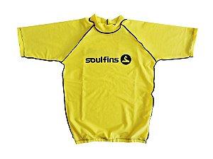 Camiseta de Lycra Soul Fins UV Protection 50+ / Manga Curta Amarelo
