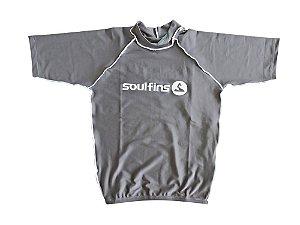 Camiseta de Lycra Soul Fins UV Protection 50+ / Manga Curta Cinza