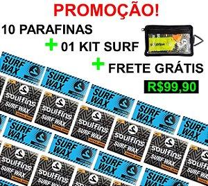 10 Parafinas + Kit Surf + Frete Grátis!