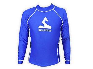 Camiseta de Lycra Soul Fins UV Protection 50+ / Manga Longa Azul