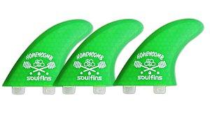 Triquilhas SH1 - Soul Fins Honeycomb Padrão FCS Médio Verde