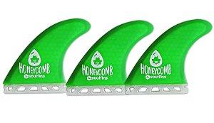 Triquilhas SX1 - Soul Fins Honeycomb Padrão Future Médio Verde