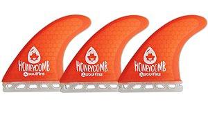 Triquilhas SX1 - Soul Fins Honeycomb Padrão Future Médio Laranja
