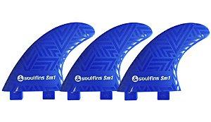 Triquilhas Soul Fins SM1 - Padrão FCS Tamanho Médio Azul