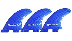 Triquilhas Soul Fins SW1 - Padrão FCS 2 Tamanho Médio Azul