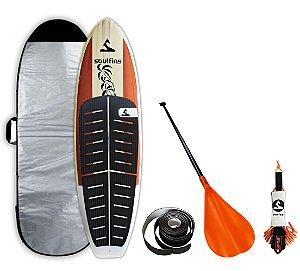 Prancha Stand Up Paddle SUP Soul Fins 10' Pés Completa Com Acessórios