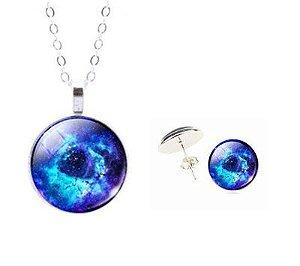 Kit Nebulosa Roseta Azul 2 pçs