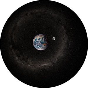 Disco para Projeção: Terra e Lua (Dia)