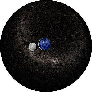 Disco para Projeção: Terra e Lua (Noite)