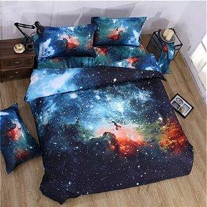 Jogo de Cama Solteiro com 3 peças - Estampa Nebulosa