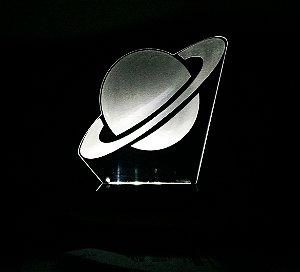 Luminária em Acrílico com luz de LED: Saturno