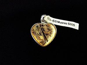 Colar de Prata Esterlina com Meteorito banhado a Ouro 24k