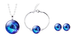 Kit Nebulosa Roseta Azul 3 pçs
